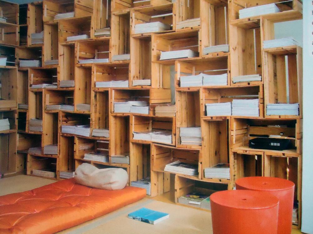 Estantes para livros oficina ibir - Estanterias pequenas de madera ...