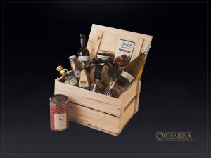 Caixa Bau pequena – Modelo cesta de natal – personalizado com gravaçao a laser