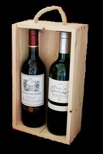 caixa 2 garrafas
