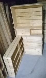 Armario de caixotes com modulo sob medidas
