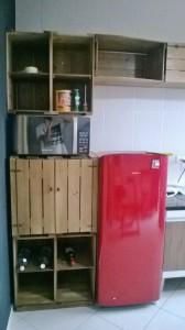 Armario de caixotes para cozinha