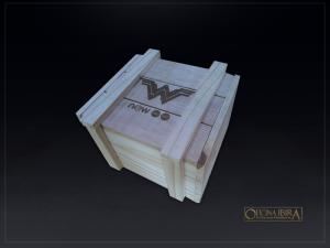 Caixa de Madeira modelo tampa de encaixe. Fabricada em madeira pinus, estilo ripada EXPORT. Acabamento natural. PROJETO NOW