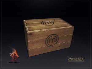 Caixote de madeira modelo Bau. Projeto MASTERCHEF