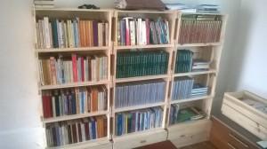 Estante de caixotes para livros (2)