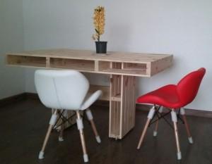 Mesa de pallets, base modelo H