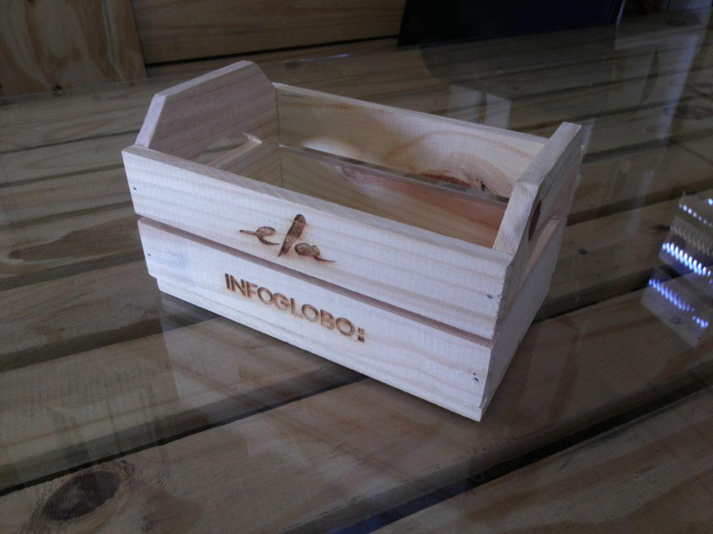 Mini caixote personalizado - modelo GLOBO