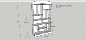 PROJETO 3D - EXPOSITOR COM CAIXOTES