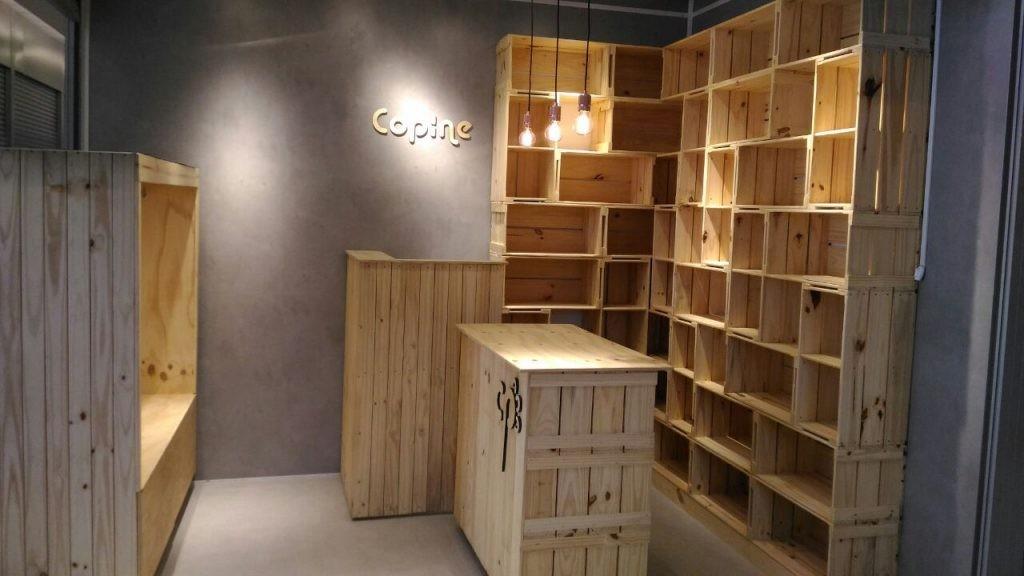 Projeto para box de roupas femininas - Estante de caixotes, balcao, ilha e base para manequins - REF. LOJA DE ROUPAS COPINE (2)