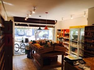Projeto para loja de produtos naturais - Estante de caixotes, mesa expositora, balcao, etc, - projeto loja de produtos naturais Eko