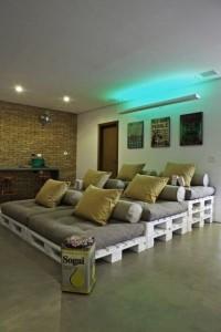 Sofa de pallets em 3 niveis