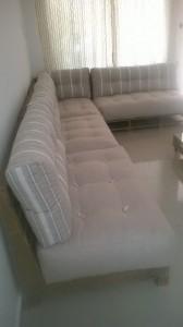Sofa de pallets em L