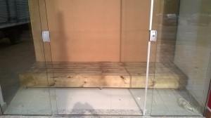 Tablado de pallets para vitrine