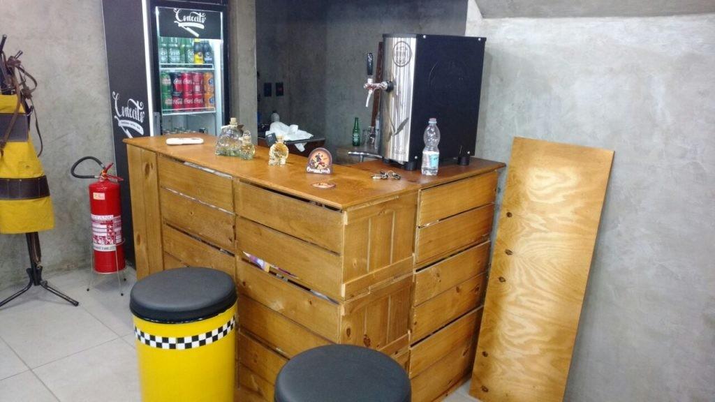 balcao de caixotes - modelo em L - projeto barbearia Conceito (2)