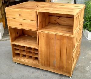 balcao ilha para cozinha - modelo com portas, gavetas, adega - ref. para cozinha (2)