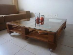 mesa de centro de pallets -modelo envenizado