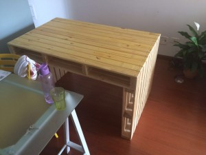 mesa de pallets - acabamento selado