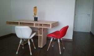 mesa de pallets modelo com base