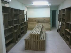 projeto para loja, com estantes, expositor central e de parede - projeto loja Bio Funcional