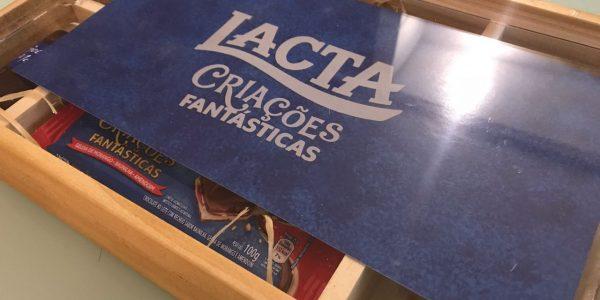 CAIXA DE MADEIRA COM TAMPA EM ACRILICO, REF. LACTA