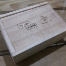 Caixa Personalizada - modelo tampa deslizante - acabamento natural-Ref. BAYER