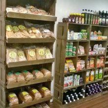 Expositores de caixotes - Projeto loja de produtos naturais Via Naturalli