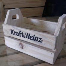 Mini caixote personalizado - acabamento natural - ref HEINZ