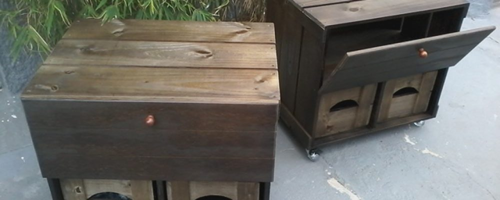 movel de caixotes, gabinete pra banheiro, modelo com porta