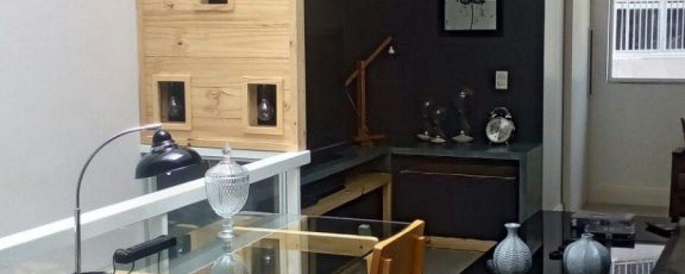 projeto residencial - base para mesa e painel para luminaria