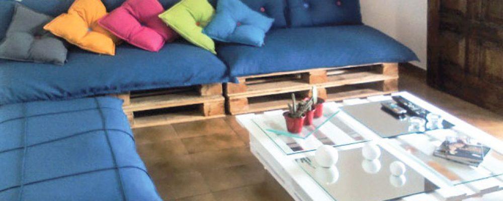 sofa de pallets + mesa de centro